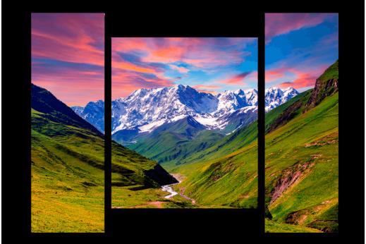 Модульная картина Горная долина